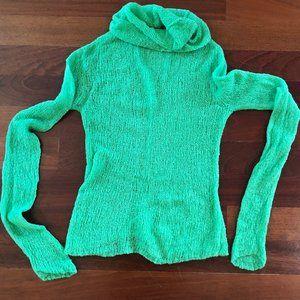 Free People Green Lightweight Sweater